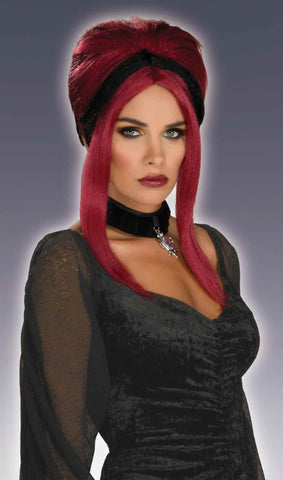 Sexy Goth Vamp or Witch Wig - HalloweenCostumes4U.com - Accessories