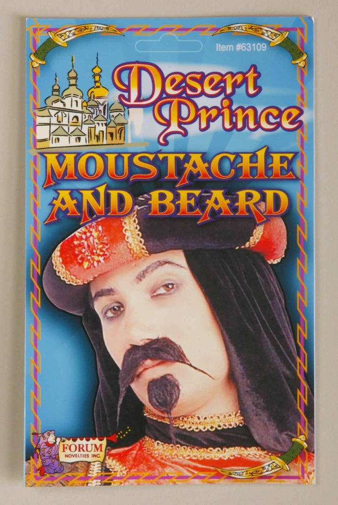 Desert Prince Beard and Moustache Set - HalloweenCostumes4U.com - Accessories