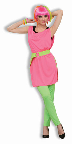 Eighties Costume Women's Tunic Pink - HalloweenCostumes4U.com - Adult Costumes