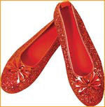 Adults Wizard of Oz Ruby Shoes - HalloweenCostumes4U.com - Accessories