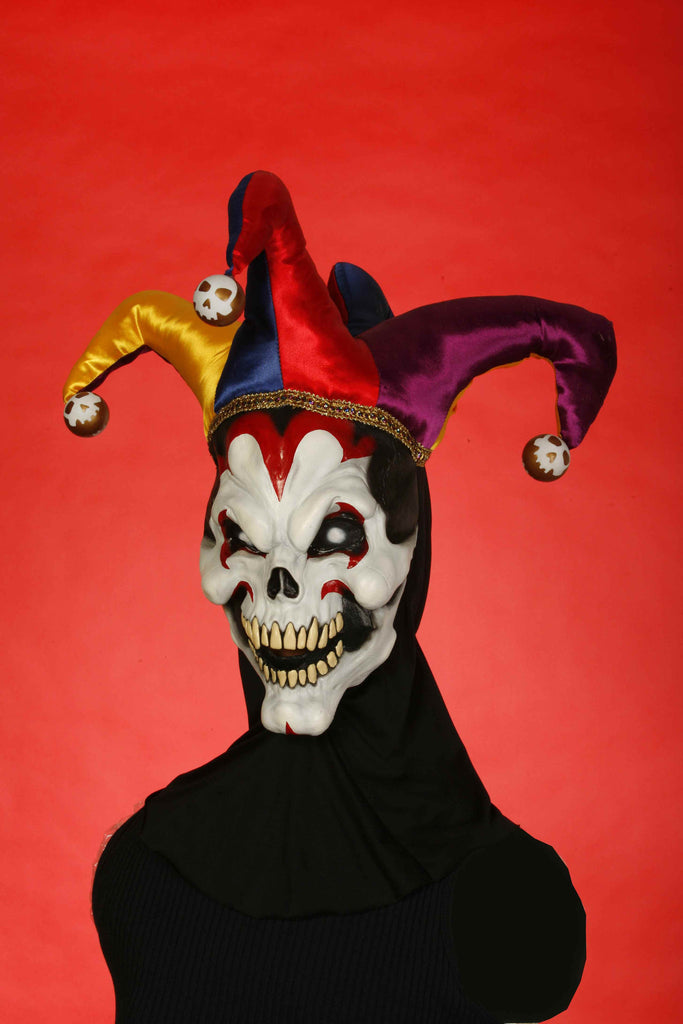Jester Skull Costume Mask - HalloweenCostumes4U.com - Accessories