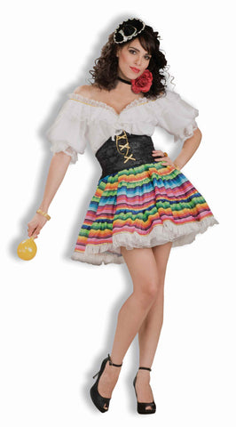 Sexy Mexican Woman Halloween Costume - HalloweenCostumes4U.com - Adult Costumes