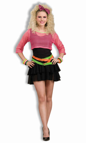 Retro Eighties Fan Gal Halloween Costume - HalloweenCostumes4U.com - Adult Costumes