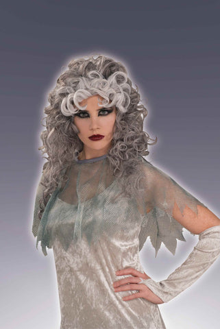 Ghost Costume Wig Curly Lady Ghost - HalloweenCostumes4U.com - Accessories
