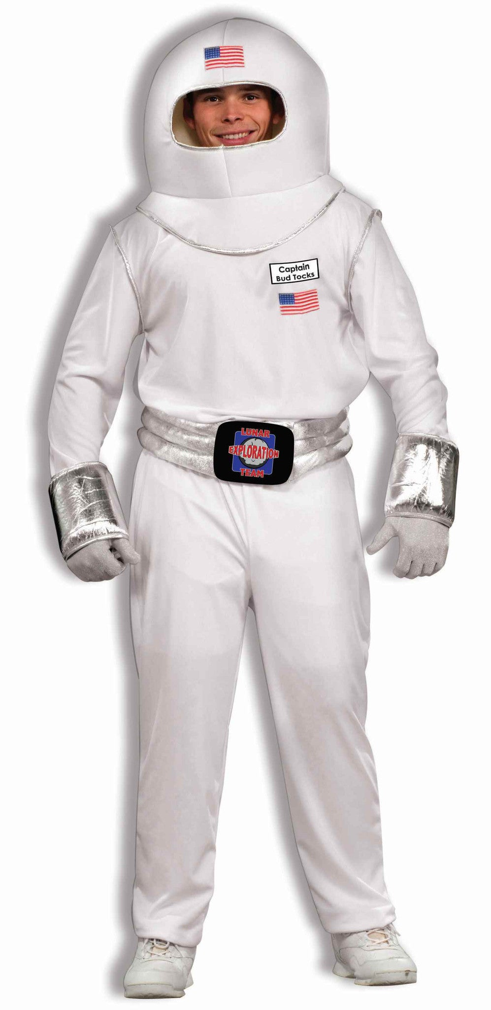 Astronaut Silver Mens Adult Outer Space Explorer Halloween Costume