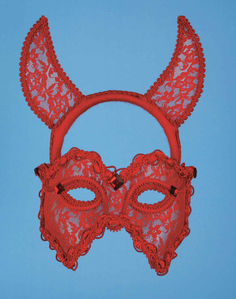 Lace Devil Masks Ladies Devil Mask - HalloweenCostumes4U.com - Accessories