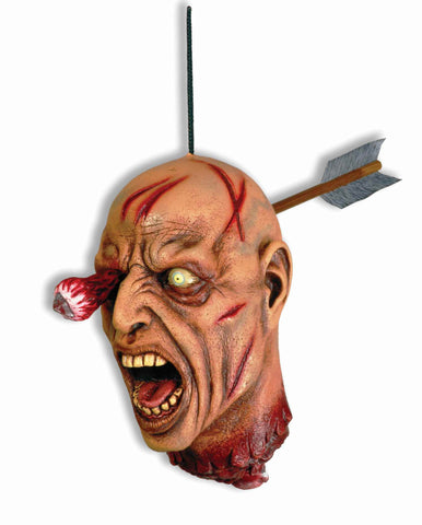 Arrow Thru Eye Severed Head Prop - HalloweenCostumes4U.com - Decorations