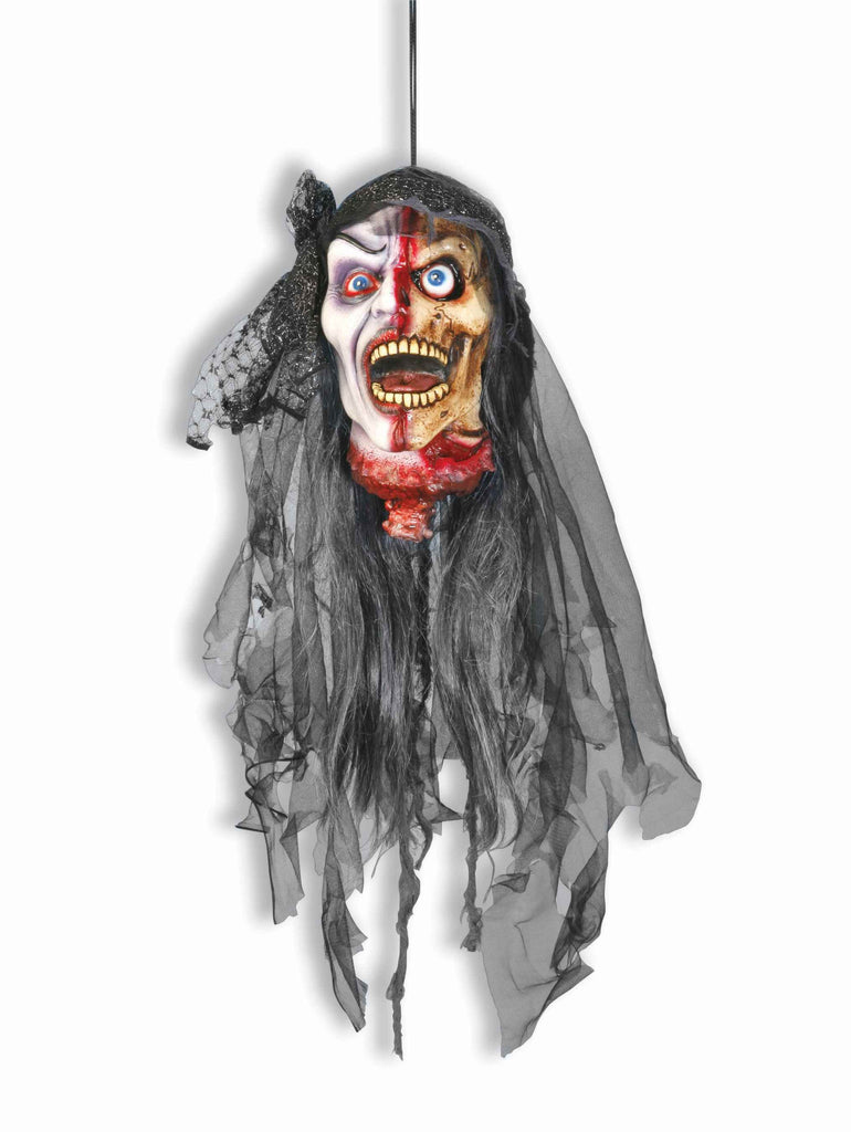 Vampire Bride Hanging Head Decoration - HalloweenCostumes4U.com - Decorations