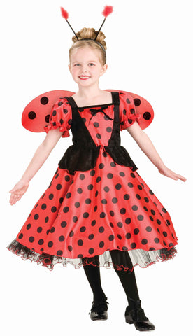 Girls Lady Bug Princess Costume - HalloweenCostumes4U.com - Kids Costumes