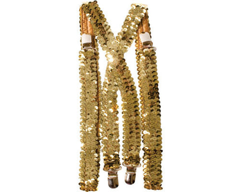 Sequined Suspenders - Various Colors - HalloweenCostumes4U.com - Accessories - 1