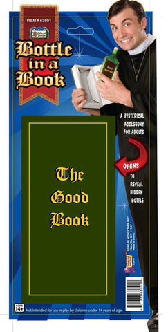 Priest/Nun Bottle in the Good Book Accessory - HalloweenCostumes4U.com - Accessories