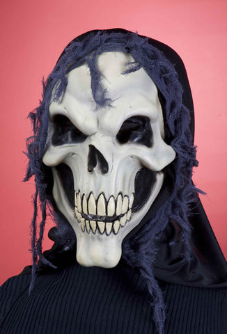 Costume Masks Skull Mask Grinning Hooded Skull - HalloweenCostumes4U.com - Accessories