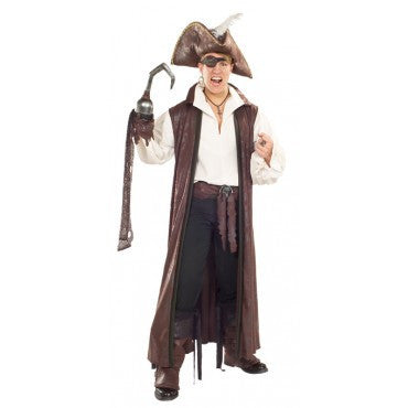Mens Pirate Distressed Coat - HalloweenCostumes4U.com - Adult Costumes