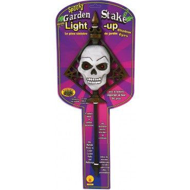 Skull Light Up Garden Stake - HalloweenCostumes4U.com - Decorations