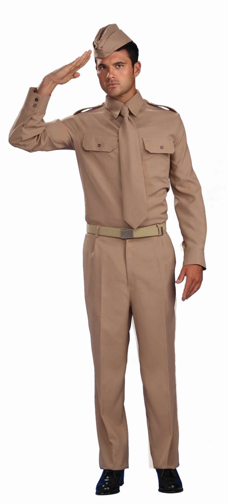 Mens WWII Army Private Costume - HalloweenCostumes4U.com - Adult Costumes