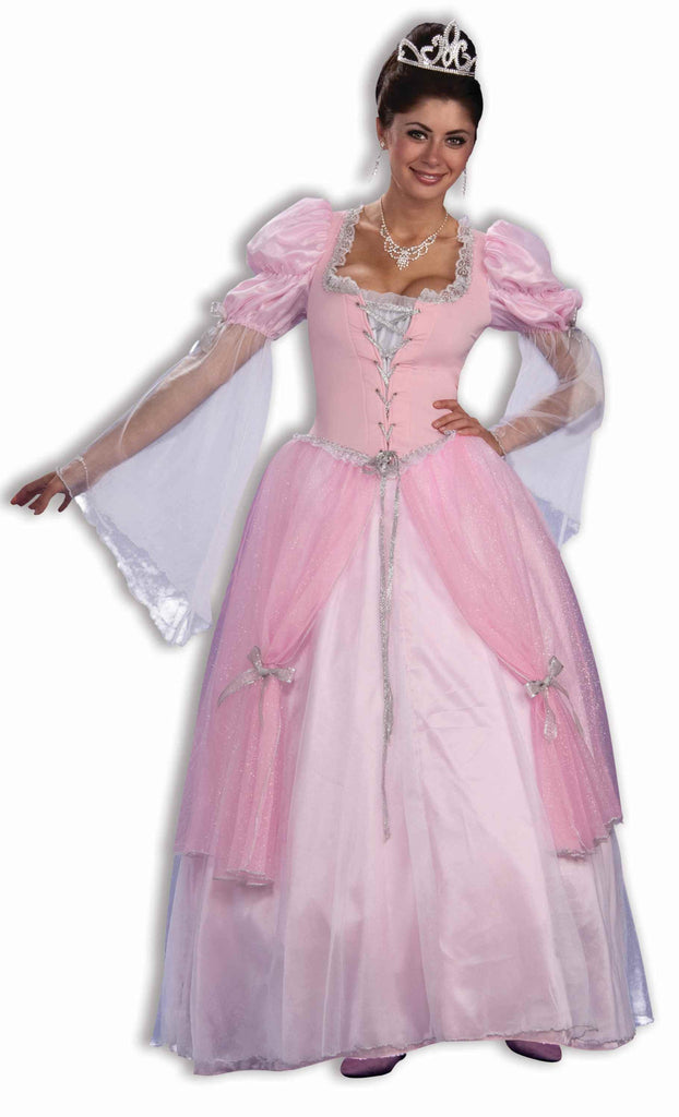 Women's Pink Fairy Tale Princess Gown - HalloweenCostumes4U.com - Adult Costumes