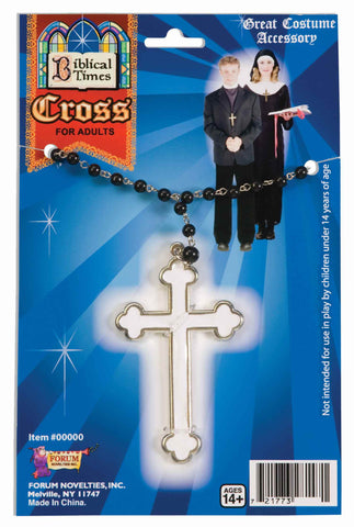 Pirest or Nun Costume Cross Necklace - HalloweenCostumes4U.com - Accessories