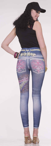 Women's Halloween Hip Hop Jean Leggings - HalloweenCostumes4U.com - Accessories