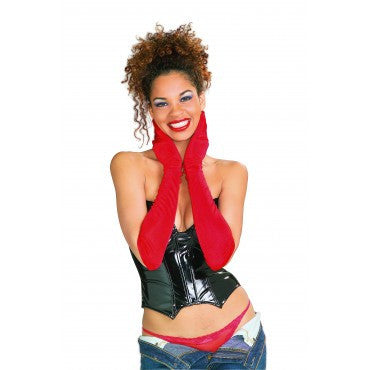Red Long Nylon Gloves - HalloweenCostumes4U.com - Accessories