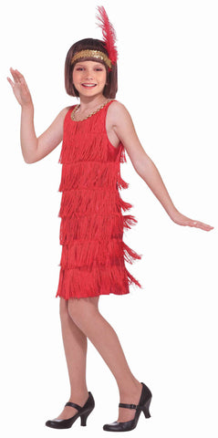 Girls Red Flapper Costume - HalloweenCostumes4U.com - Kids Costumes