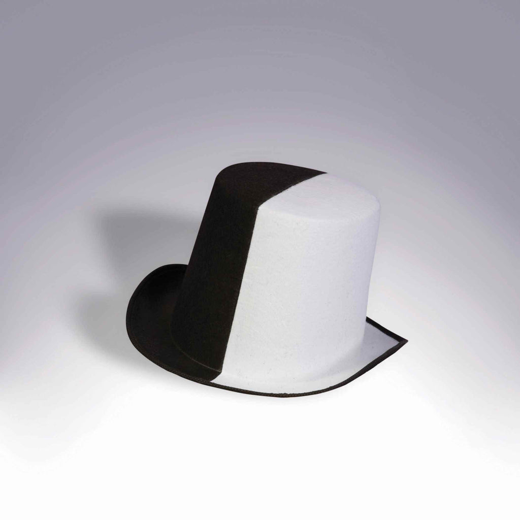 Halloween Top Hats Black/White Top Hat - HalloweenCostumes4U.com - Accessories