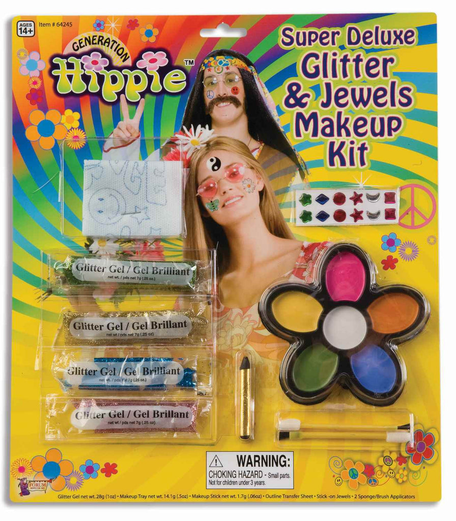 Deluxe Hippie Costume Make Up Kit - HalloweenCostumes4U.com - Accessories