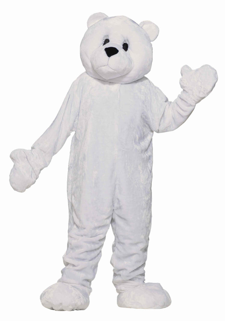 Teddy Bear Costumes White Bear Mascot Costume