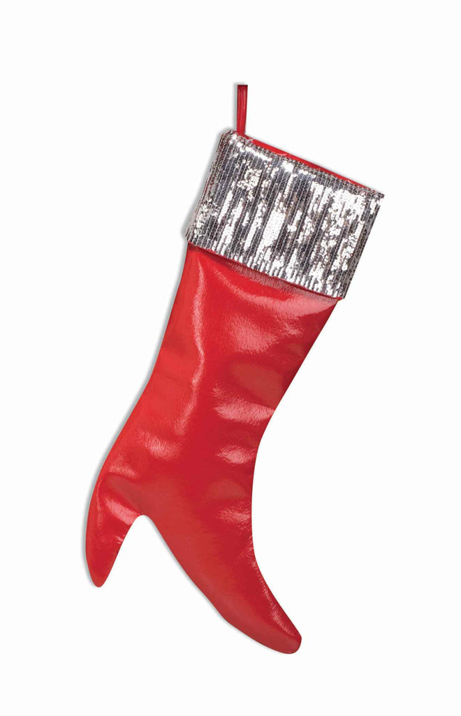 High Heel Christmas Stocking w/Sequins - HalloweenCostumes4U.com - Holidays