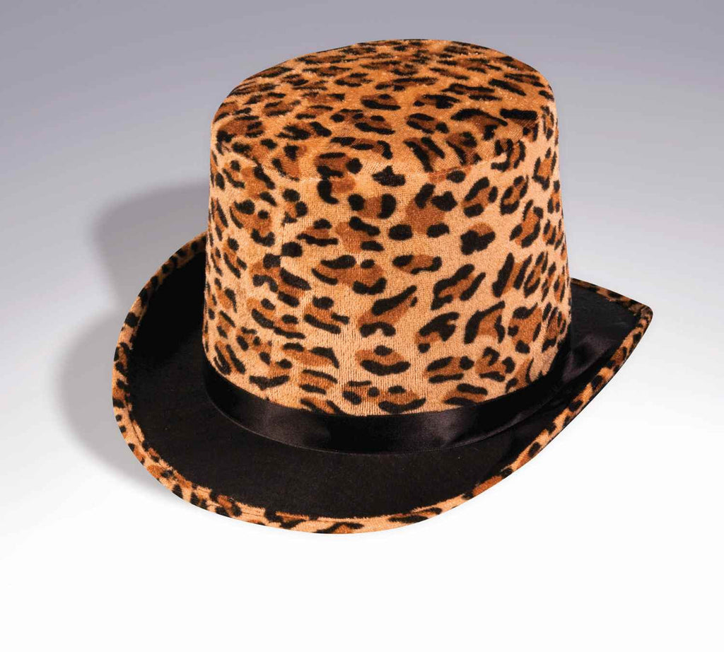 Halloween Top Hats Leopard Print Hat - HalloweenCostumes4U.com - Accessories