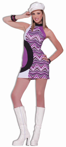 Women's Halloween 60's Zig Zag Costume Dress - HalloweenCostumes4U.com - Adult Costumes