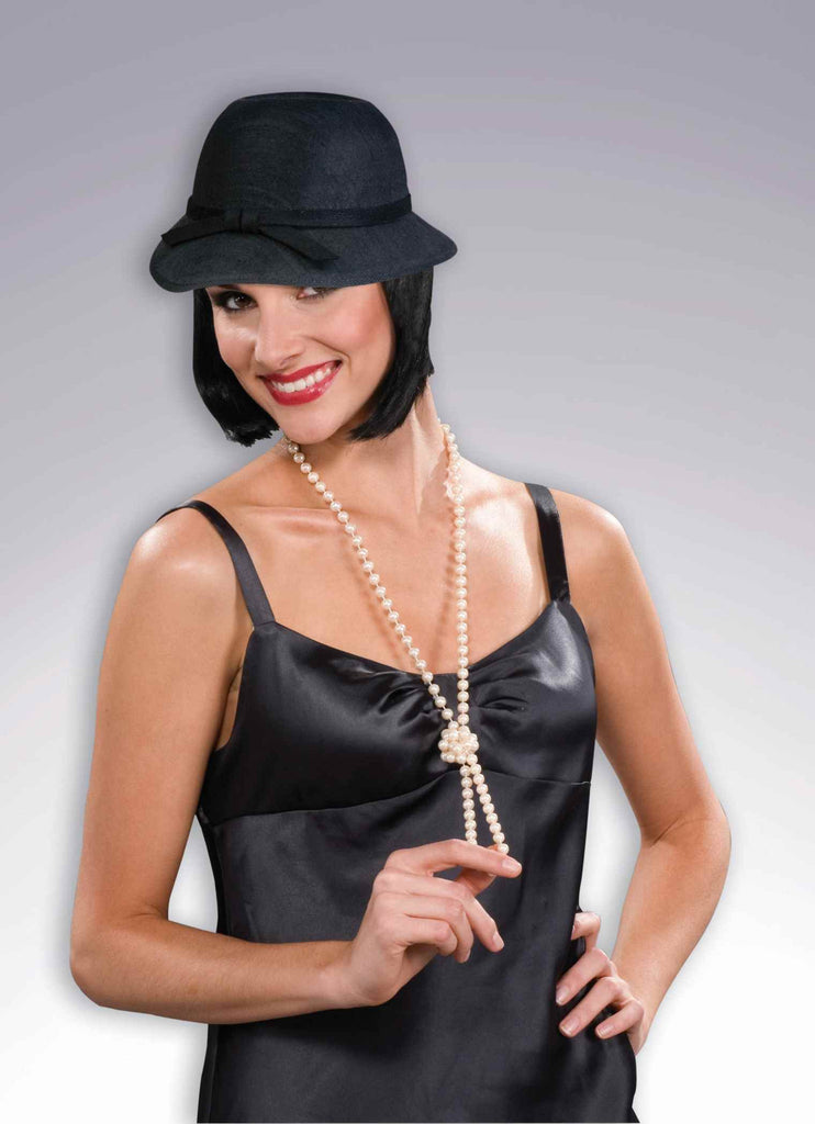Halloween Costume Flapper Hat Black - HalloweenCostumes4U.com - Accessories