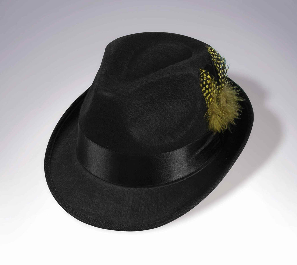Costume Hip Hop Fedora Hat with Feather - HalloweenCostumes4U.com - Accessories