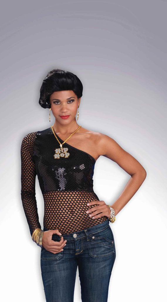 Women's Sequin/Mesh Hip Hop Sexy Top - HalloweenCostumes4U.com - Adult Costumes
