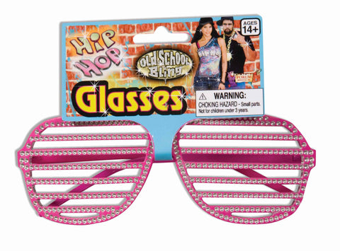 Hip Hop Costume Rhinestone Slats Glasses - HalloweenCostumes4U.com - Accessories