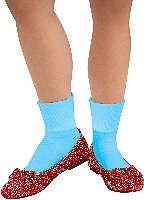 Adults Wizard of Oz Dorothy Sequin Shoes - HalloweenCostumes4U.com - Accessories