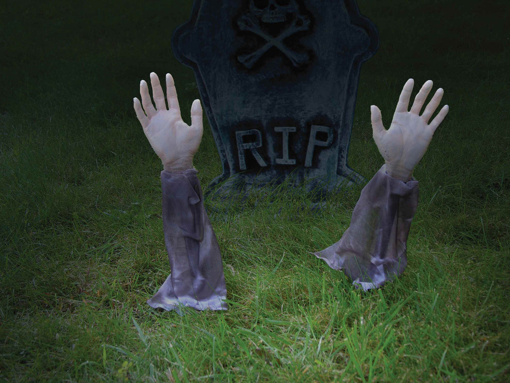 Halloween Zombie Arms Lawn Stakes - HalloweenCostumes4U.com - Decorations