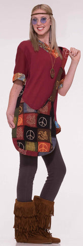 Peace Signs Hippie Costume Purse - HalloweenCostumes4U.com - Accessories