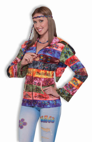 Rainbow Hippy Costume Hoodies - HalloweenCostumes4U.com - Adult Costumes