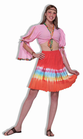 Halloween Costume Tie Dye Skirt - HalloweenCostumes4U.com - Adult Costumes