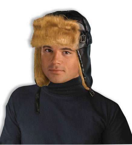 Costume Aviator Hats Furry Old Style Pilot - HalloweenCostumes4U.com - Accessories