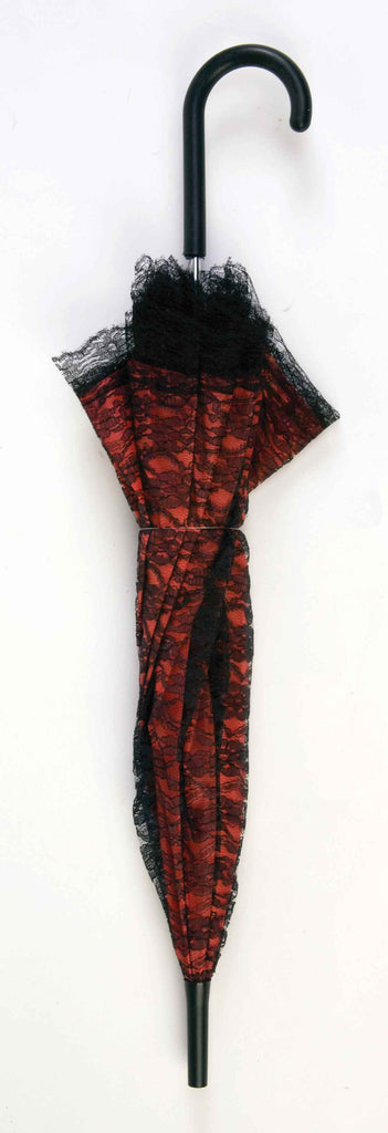 Costume Parasols Red And Black Lace Parasol Halloween Costumes 4u