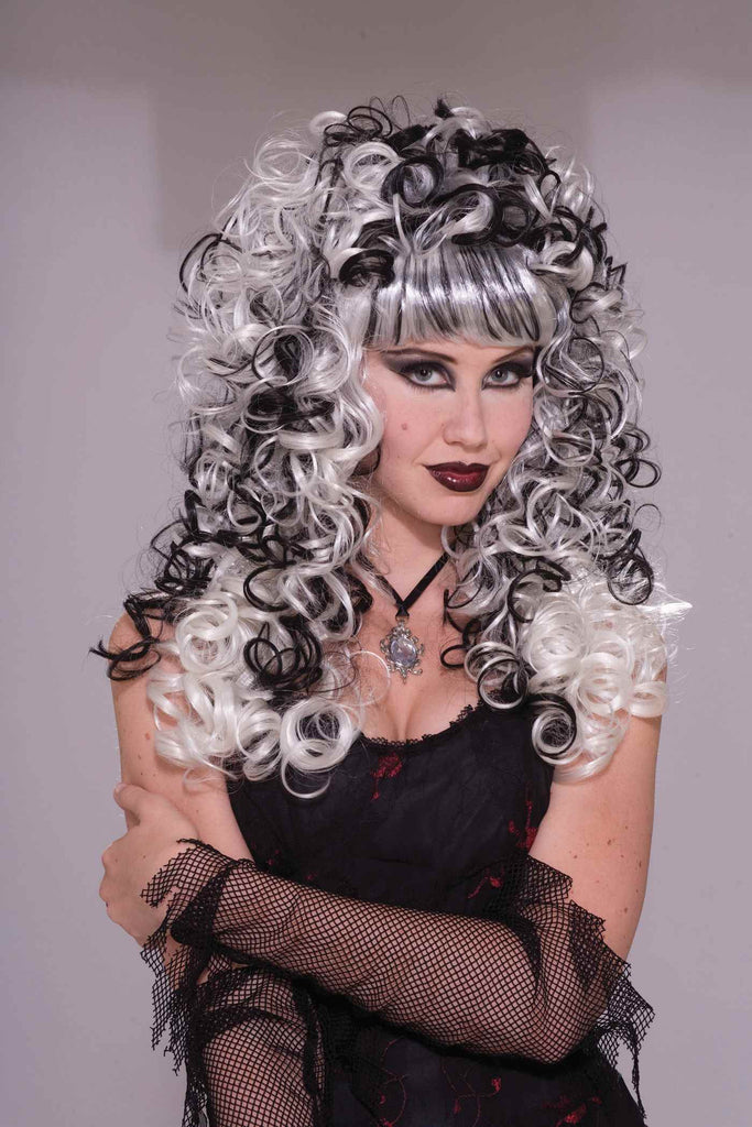 Ghost Costume Wigs Women's Ghostly Curls Wig
