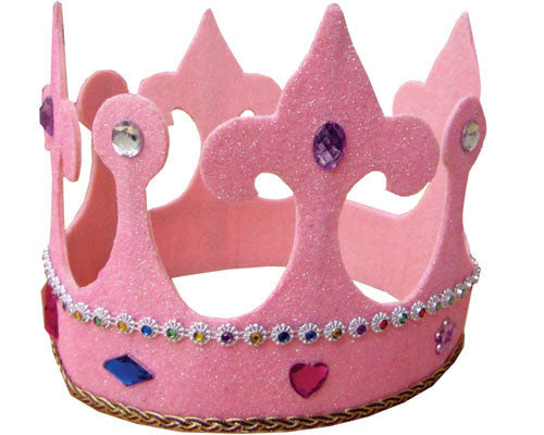 Kids Tall Pink Princess Crown