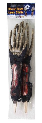 Horror Hands Halloween Lawn Stakes - HalloweenCostumes4U.com - Accessories