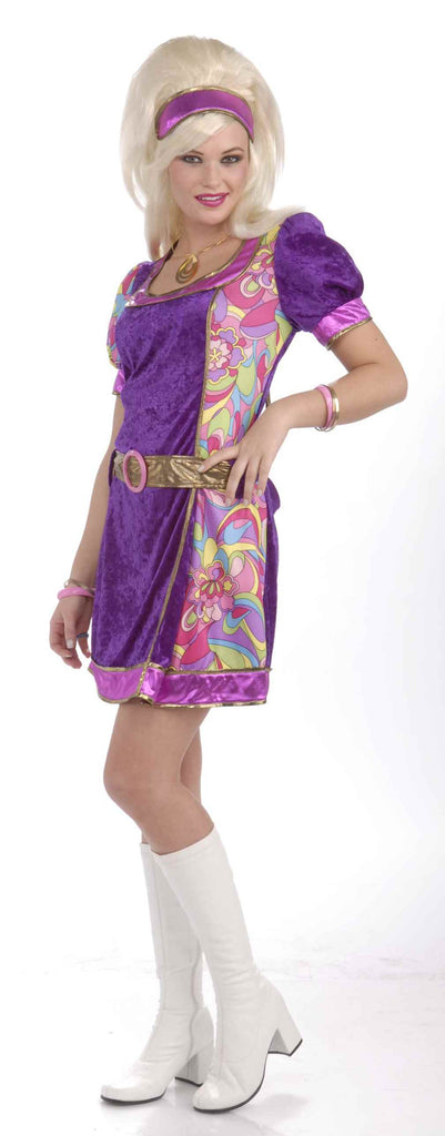 Mod Hippie Woman Halloween Costume - HalloweenCostumes4U.com - Adult Costumes
