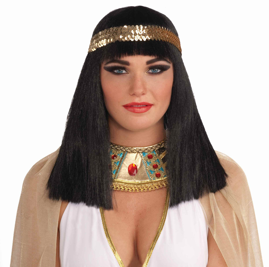 Cleopatra Wigs Cleo Wig with Sequin Band - HalloweenCostumes4U.com - Accessories