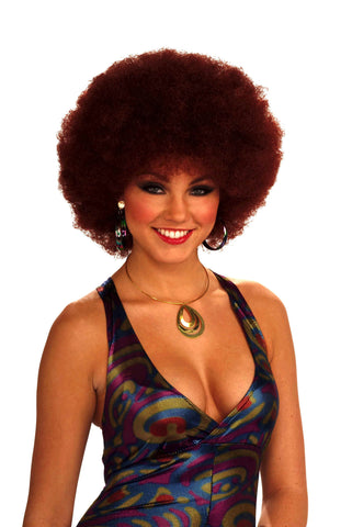 Disco Lady Afro Wig Sexy Red Head Afro - HalloweenCostumes4U.com - Accessories
