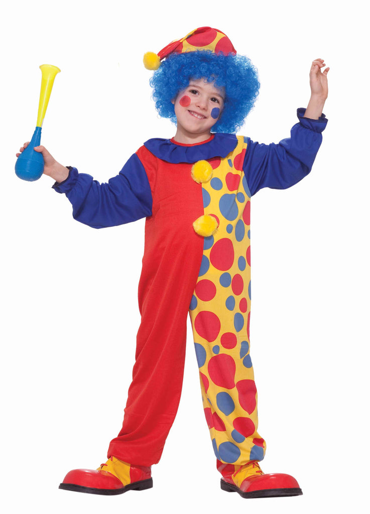 Boys Rainbow Clown Costume