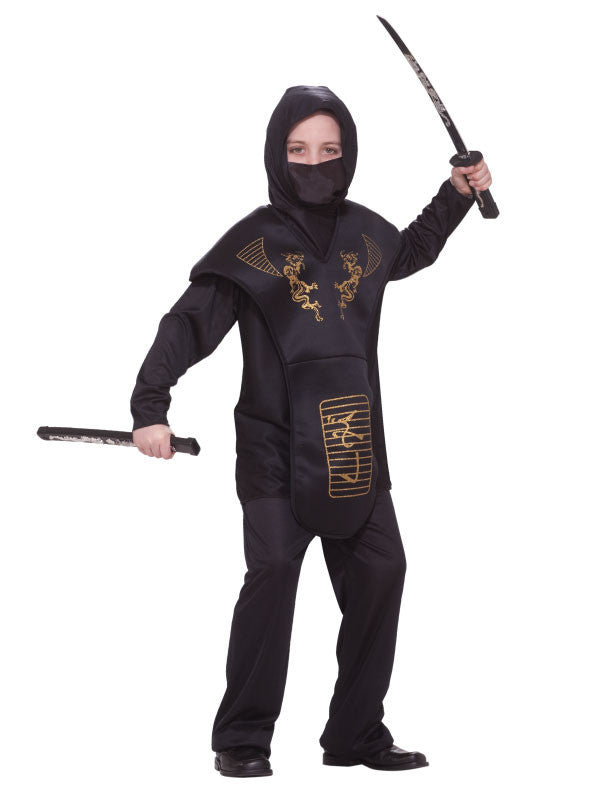 Boys Black Ninja Costume - HalloweenCostumes4U.com - Kids Costumes