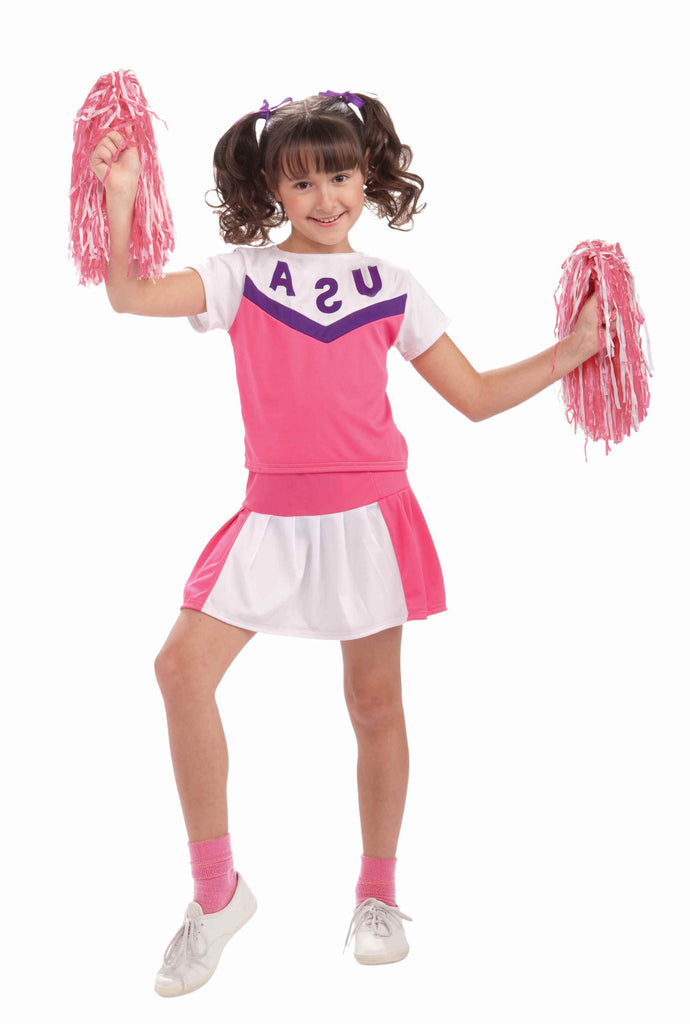 Girls USA Cheerleader Costume - HalloweenCostumes4U.com - Kids Costumes